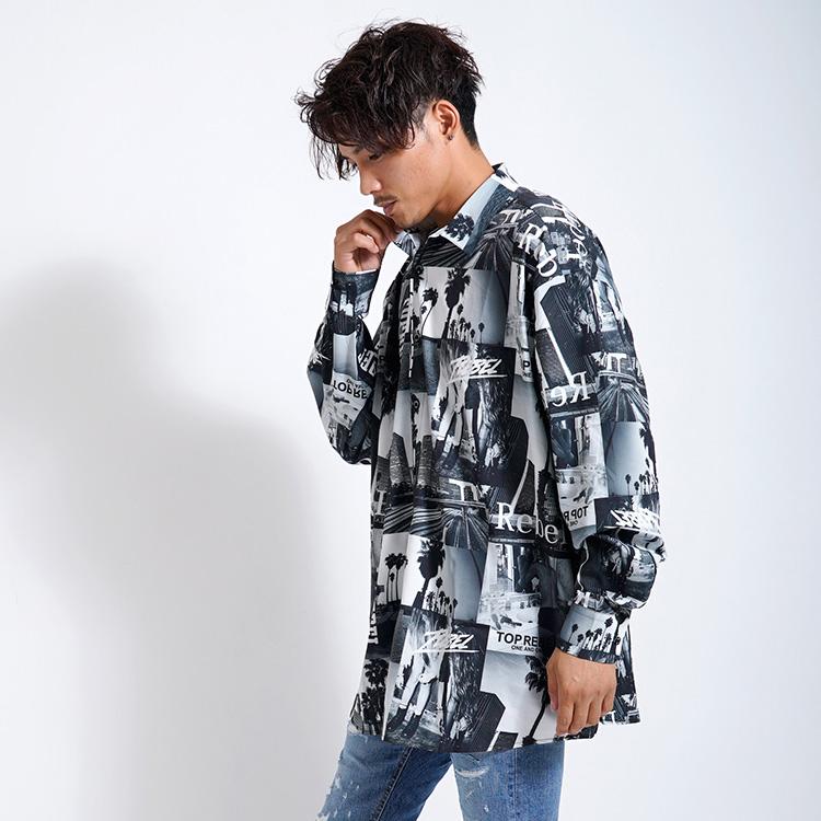 【SALE】RebeL Photo Collage Big Silhouetteシャツ