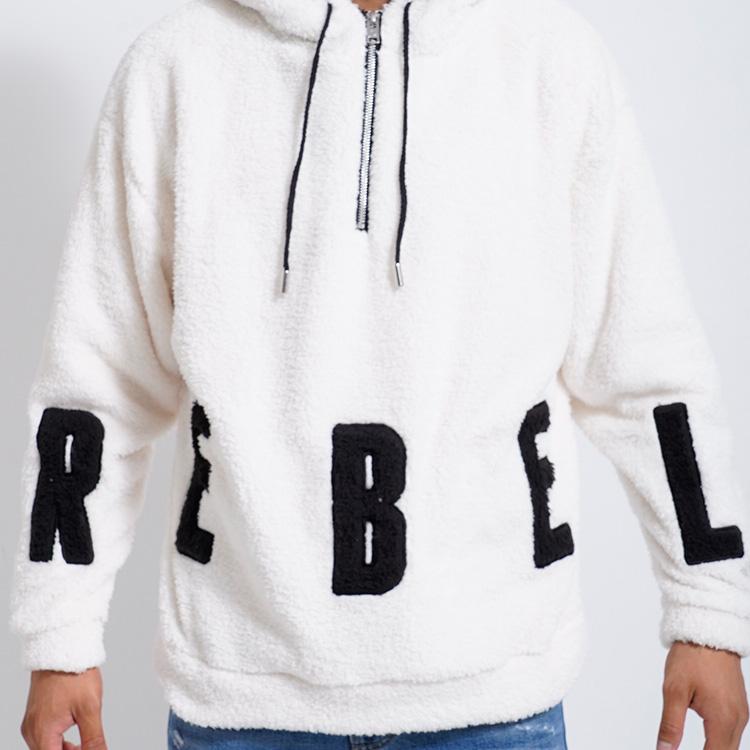 【SALE】RebeL Big Logo Half Zip Boaパーカー