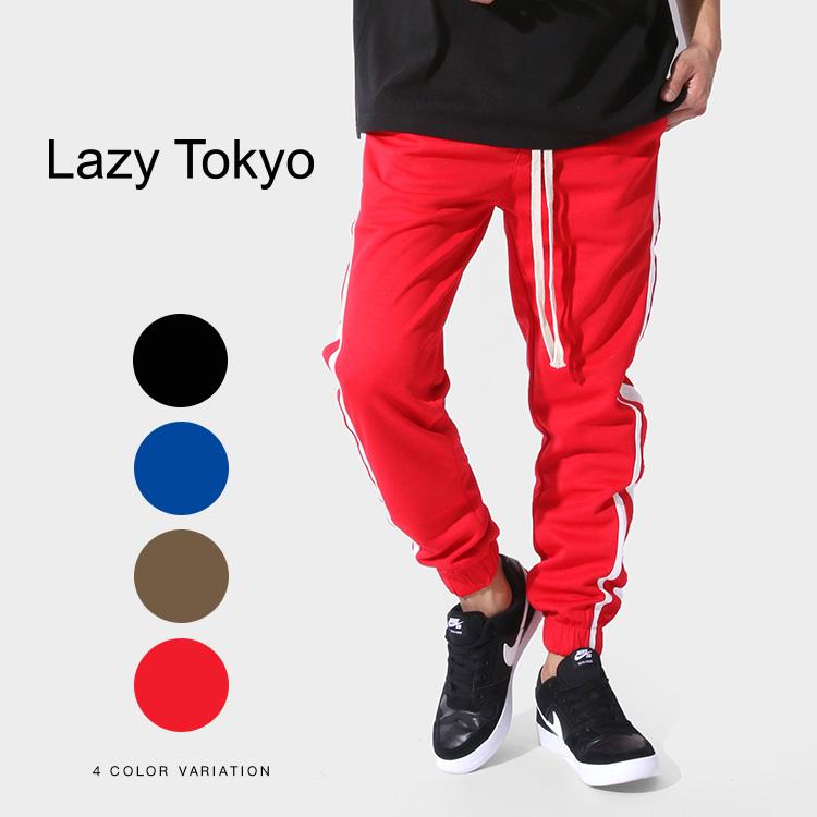 Lazy Tokyo Double Lineジャージーパンツ