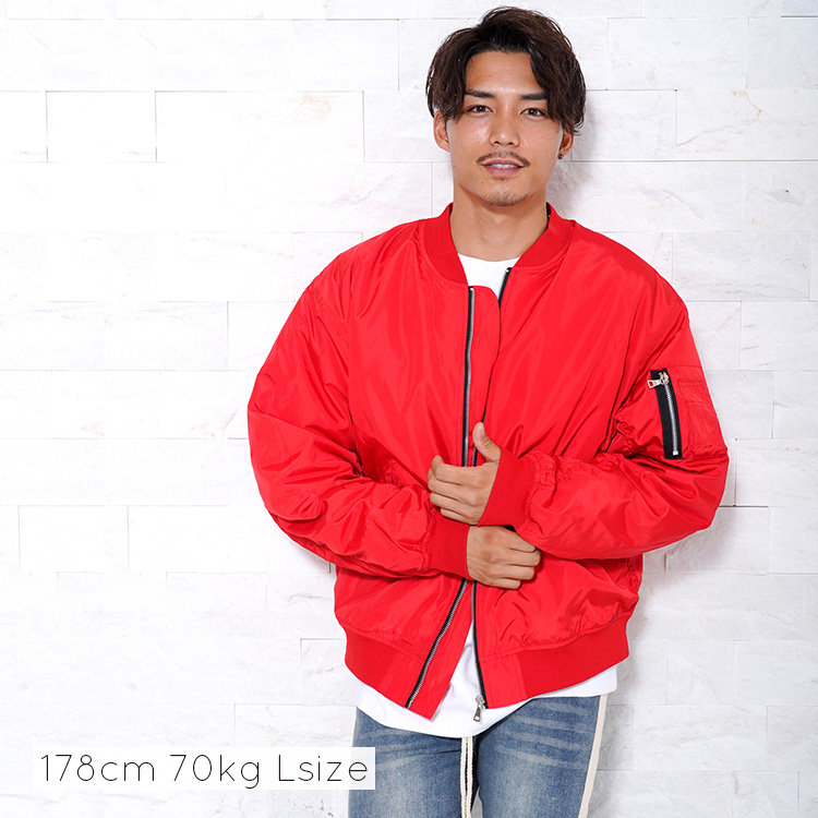 Lazy Tokyo オーバーサイズMA-1ブルゾン(中綿有り)