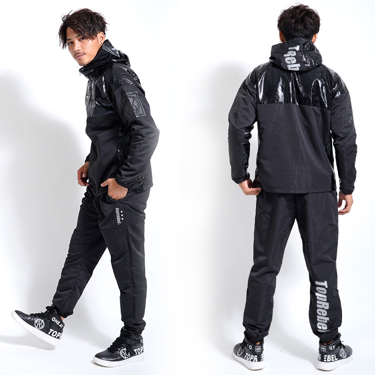 【SALE】RebeL Luster Switchingナイロンセットアップ
