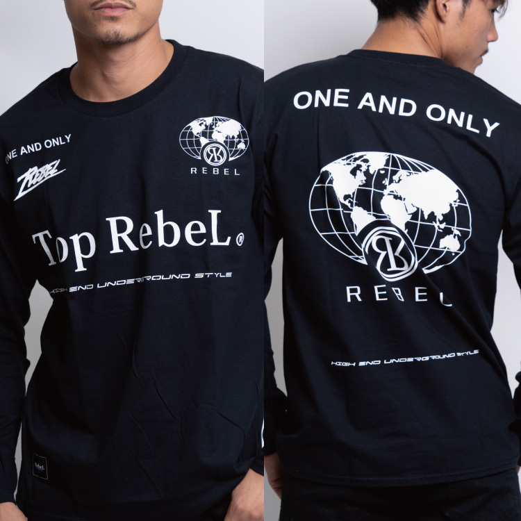 RebeL Globe LogoロンT