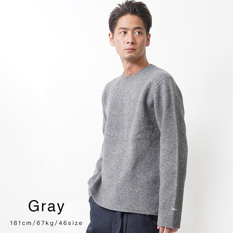 【SALE】DEEP Double Face Woolクルーネックニット