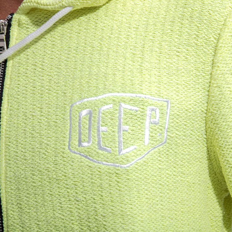 【SALE】DEEP Neon Long Loopパイルジップパーカー