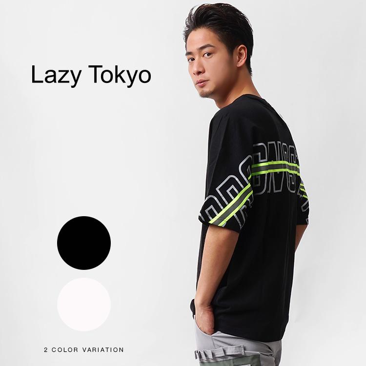 【SALE】Lazy Tokyo Back Reflector Line Tシャツ