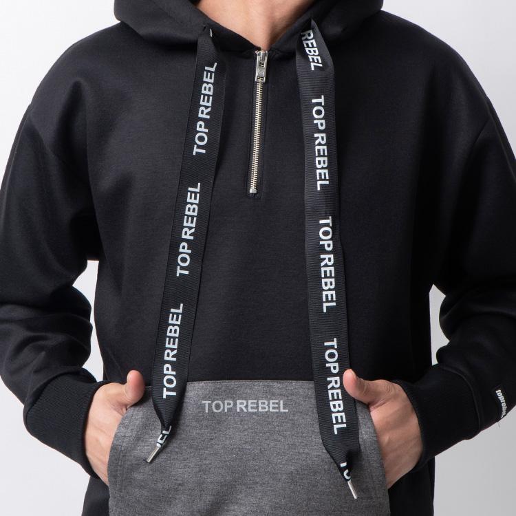 【SALE】RebeL Bonding Bicolorハーフジップパーカー