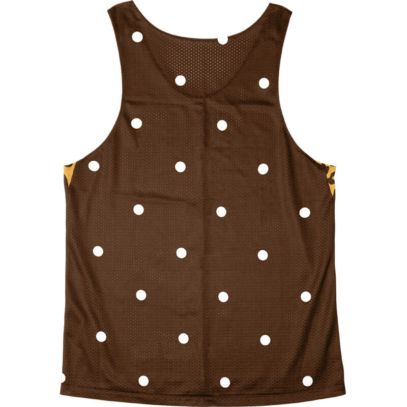 Singlet Box logo Leopard Brown Dot