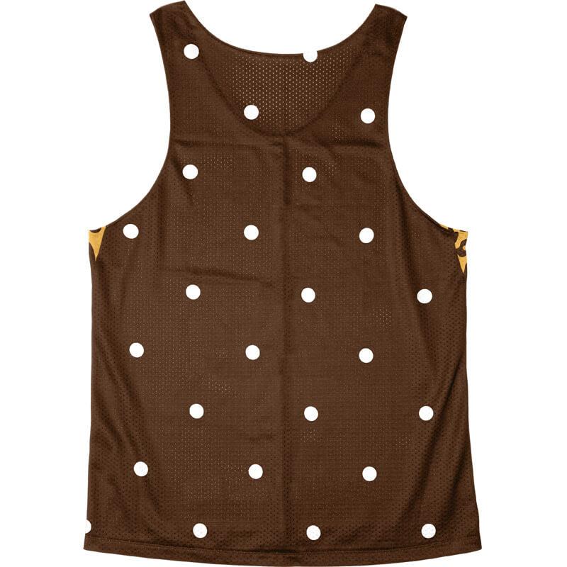 Singlet Box logo Leopard Brown Dot