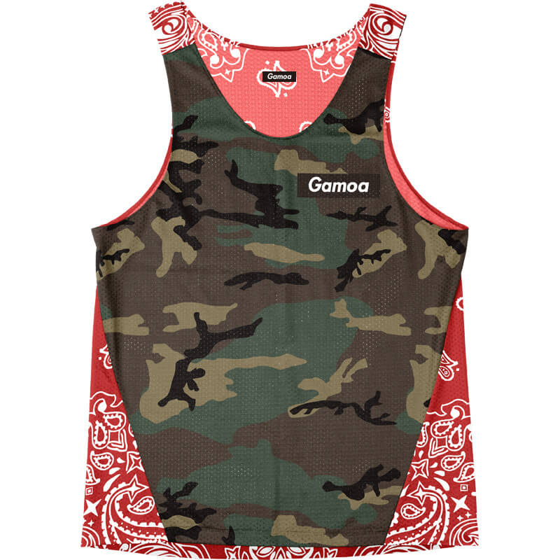 Singlet Box logo Camouflage Red Paisley