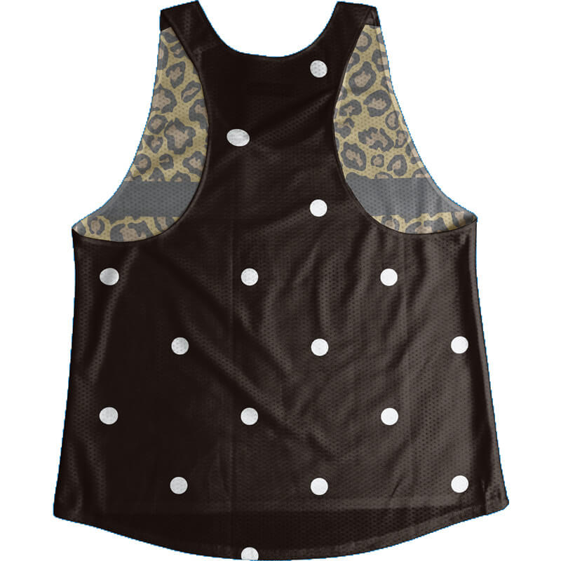 Singlet Leopard Black Dot Ladies