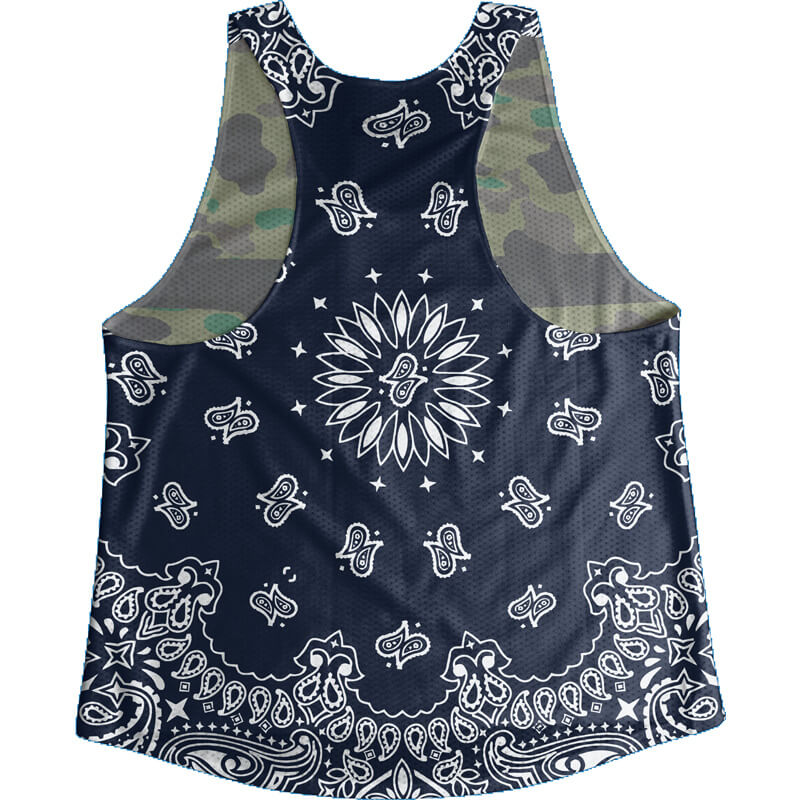 Singlet Camouflage Dark blue Paisley Ladies