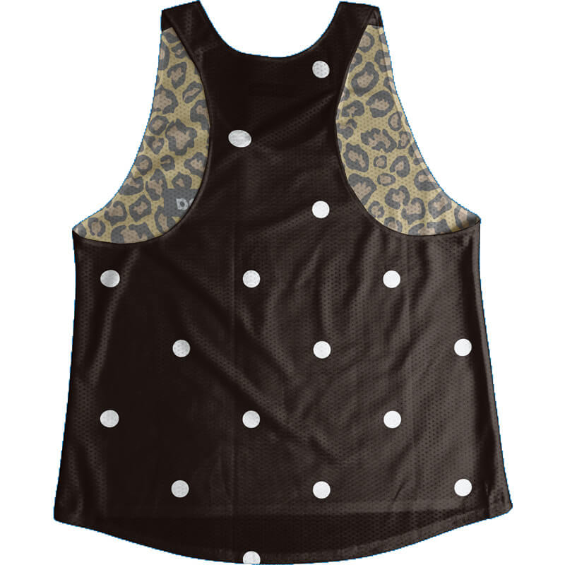 Singlet Box logo Leopard Black Dot Ladies