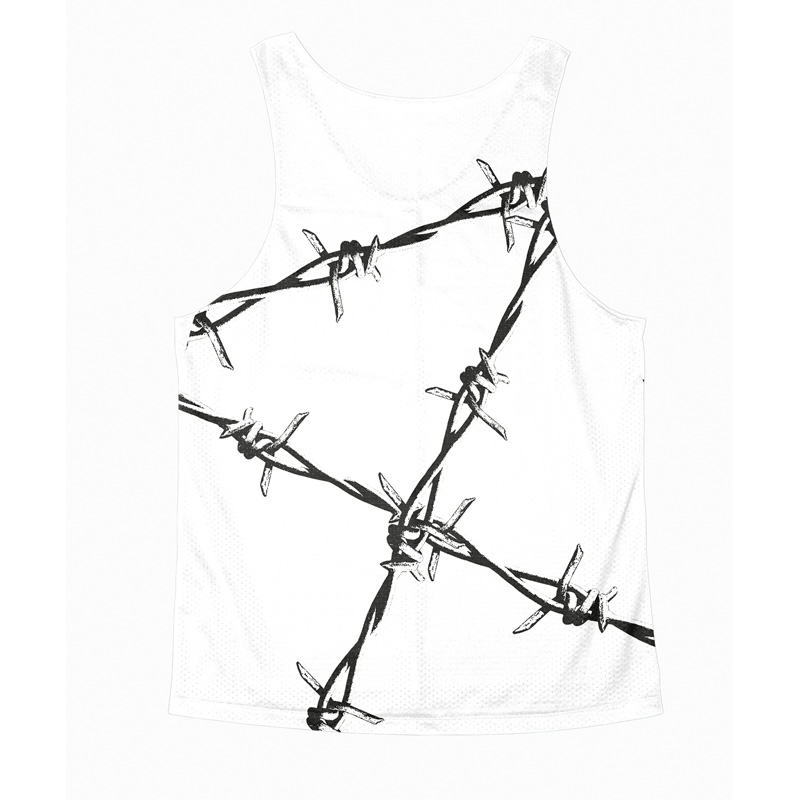 Singlet White Barbed wire