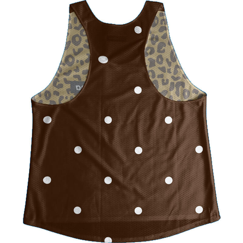 Singlet Box logo Leopard Brown Dot Ladies