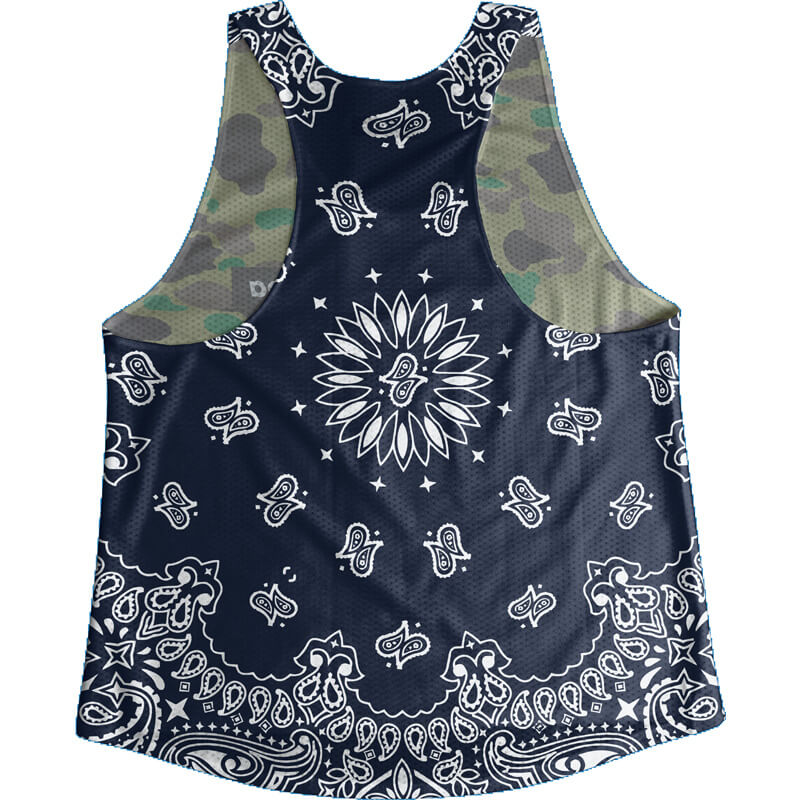 Singlet Box logo Camouflage Dark blue Paisley Ladies