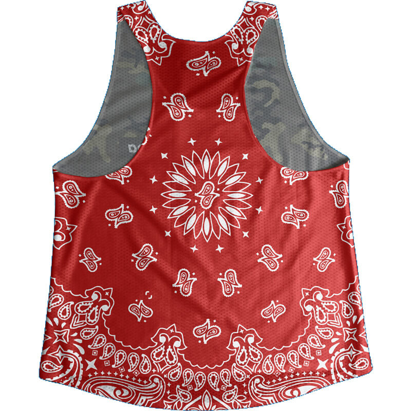 Singlet Box logo Camouflage Red Paisley Ladies