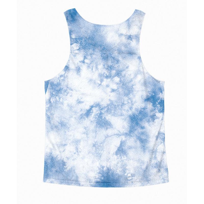 Singlet Blue Tie dye