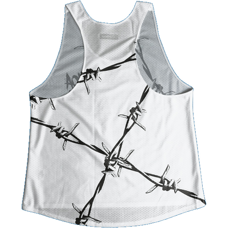 Singlet White Barbed wire Ladies
