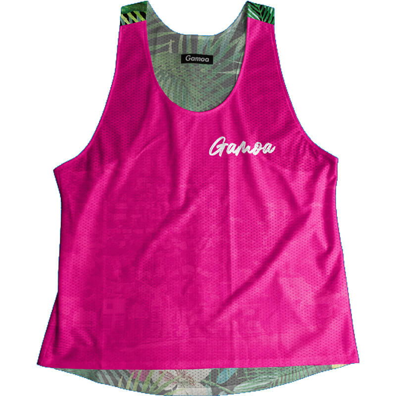 Singlet Pink Tropical Ladies