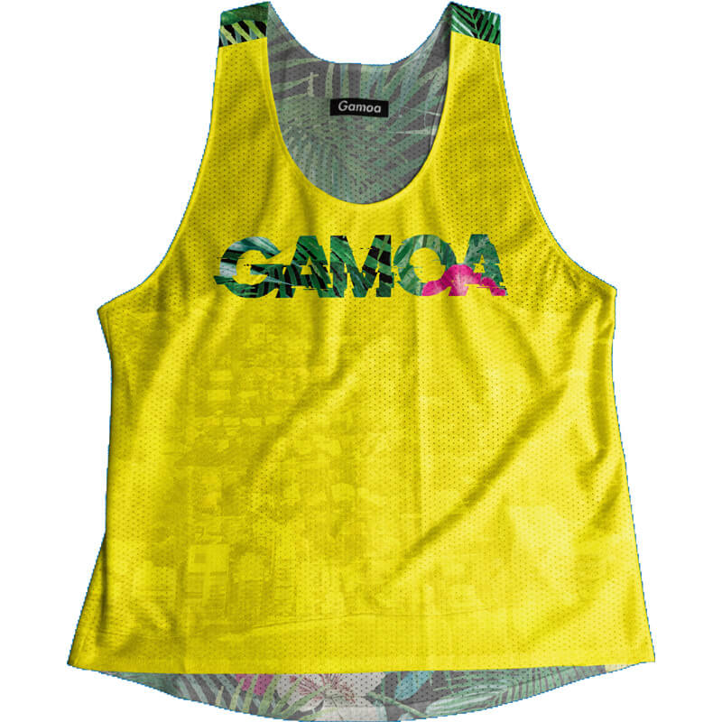 Singlet Yellow Tropical Ladies