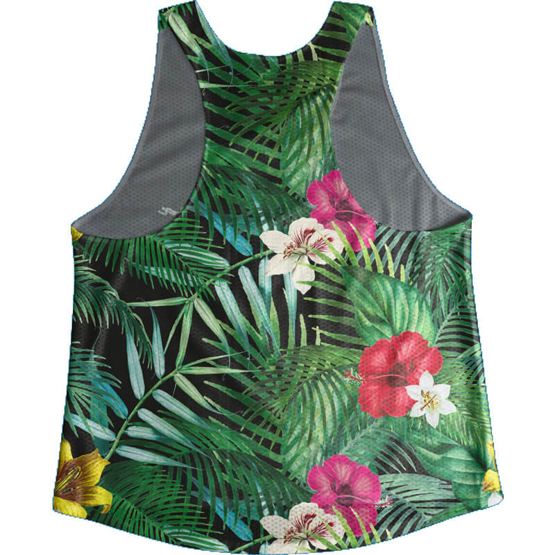 Singlet Black Tropical Ladies