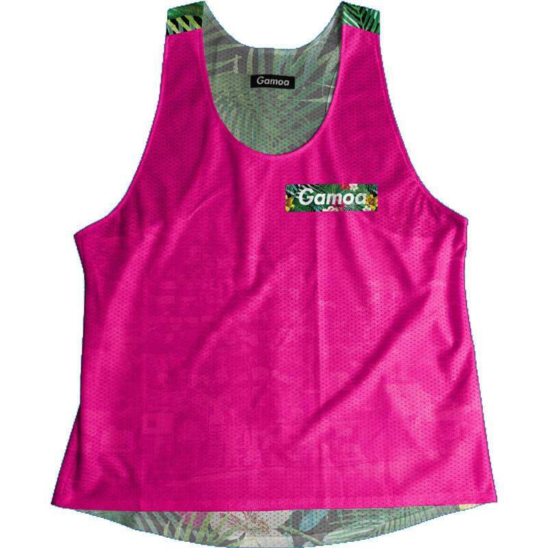 Singlet Pink Tropical Box Logo Ladies
