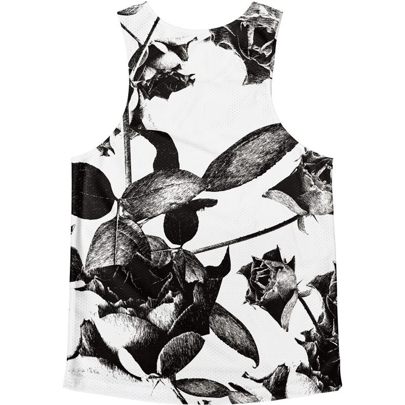 [Easy Order] Singlet Rose Patterm White