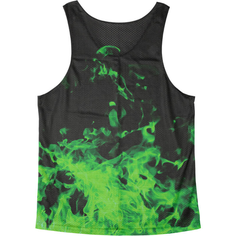 Singlet Fire Pattern Green
