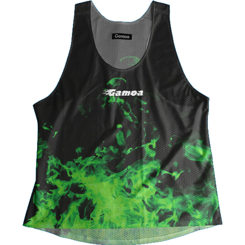 Singlet Fire Pattern Green Ladies