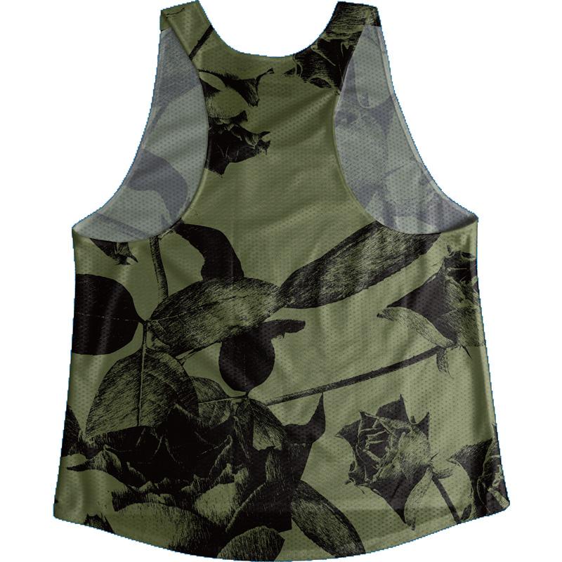 [Easy Order] Singlet Rose Pattern Green Ladies