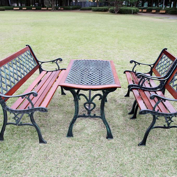洋風 ガーデン クロスーブル ガーデンテーブル屋外 庭/おしゃれ/ヨーロピアン/