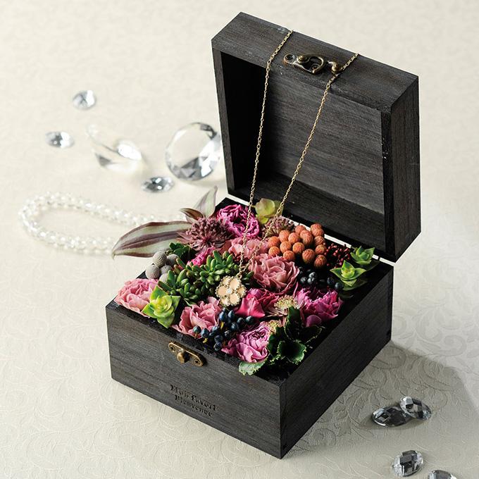 アンティーク 木箱 フラワーボックス 幅13.5cm ヴィンテージ ウッドボックス収納ボックス/ふた付き/おしゃれ/飾り 置物/オブジェ/