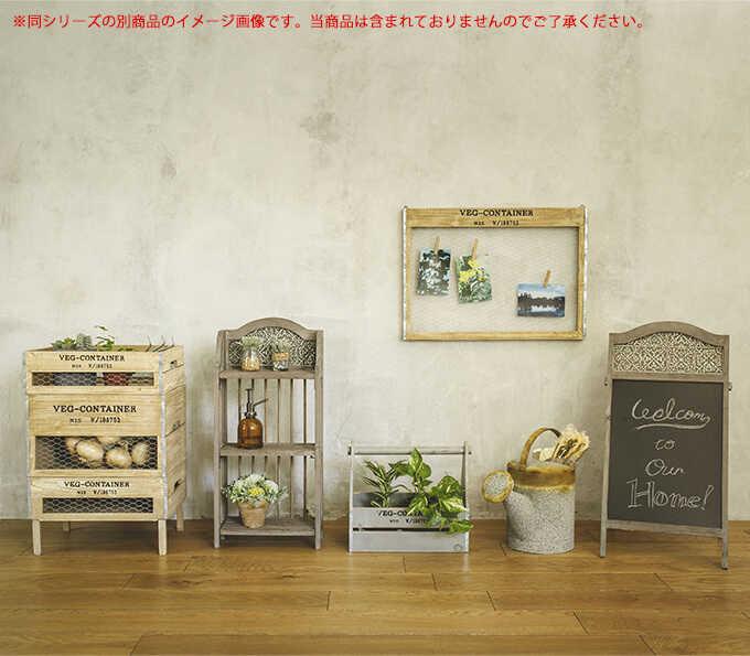 かわいい八百屋 VEG ウォールネット 壁掛け S 木製ガーデニング雑貨/おしゃれ/壁飾り/