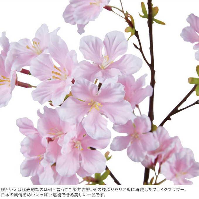 造花 桜 染井吉野 全長73cm インテリアサクラ 春 ピンク/フラワーアレンジメント/おしゃれ かわいい/