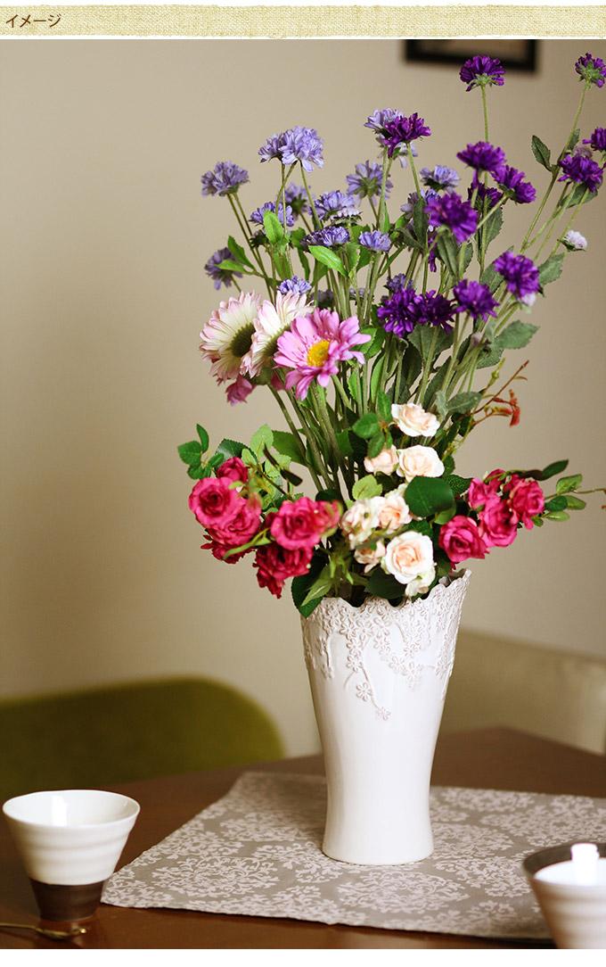 零れる花柄 フラワーベース トール S 花瓶フラワーベース/プランター 北欧/おしゃれ/花器/洋風/エントランス/