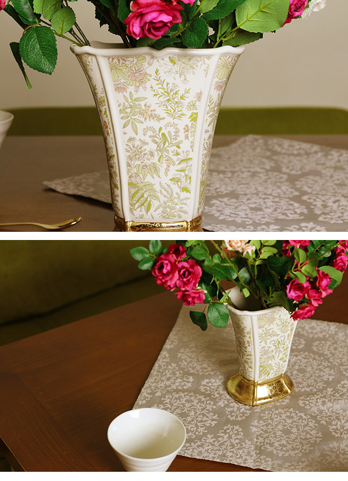 フランス王室風 陶器花瓶 アントワネット M 花瓶フラワーベース/プランター 北欧/おしゃれ/花器/洋風/エントランス/
