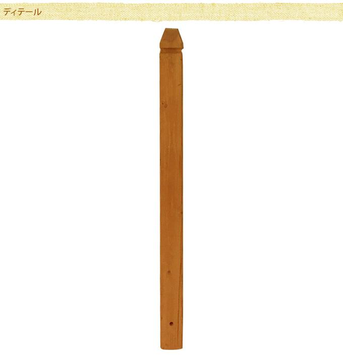 ラティス用ポスト(柱) 85cm sale ラティスポスト木製 柱/フェンス用/設置/取り付け/目かくし/固定用/ベランダ/バルコニー/