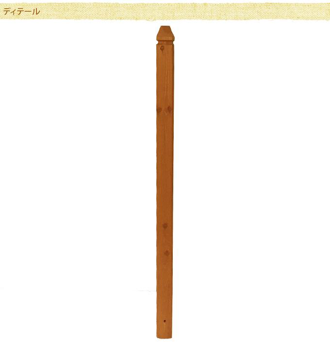 ラティス用ポスト(柱) 115cm ラティスポスト木製 柱/フェンス用/設置/取り付け/目かくし/固定用/ベランダ/バルコニー/