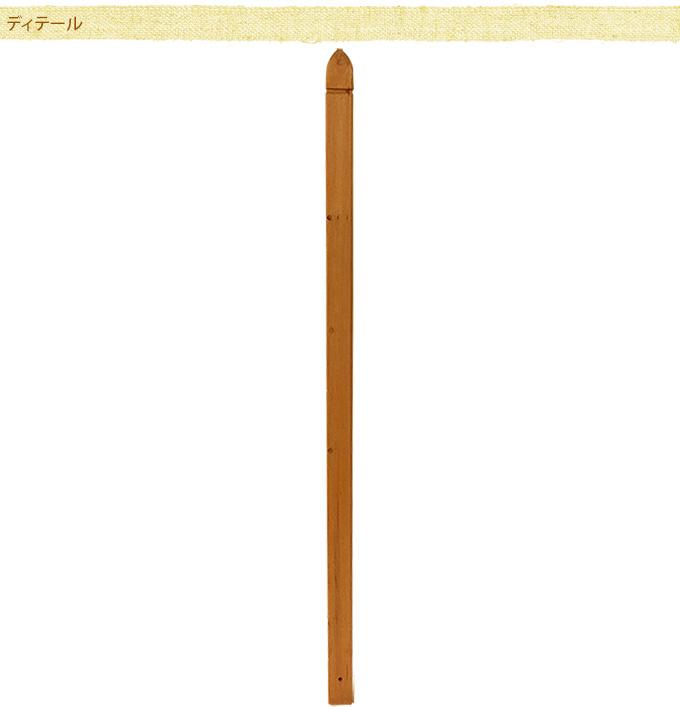 ラティス用ポスト(柱) 150cm ラティスポスト木製 柱/フェンス用/設置/取り付け/目かくし/固定用/ベランダ/バルコニー/