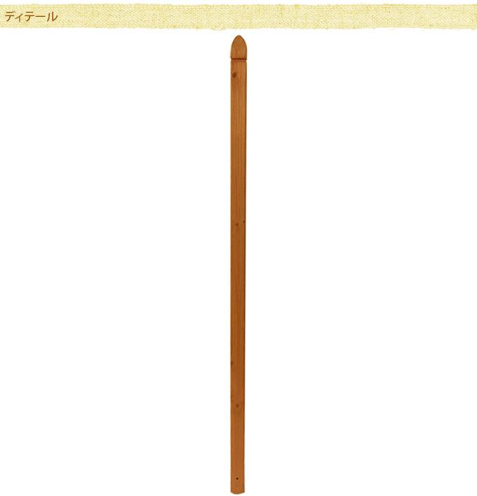 ラティス用ポスト(柱) 180cm ラティスポスト木製 柱/フェンス用/設置/取り付け/目かくし/固定用/ベランダ/バルコニー/