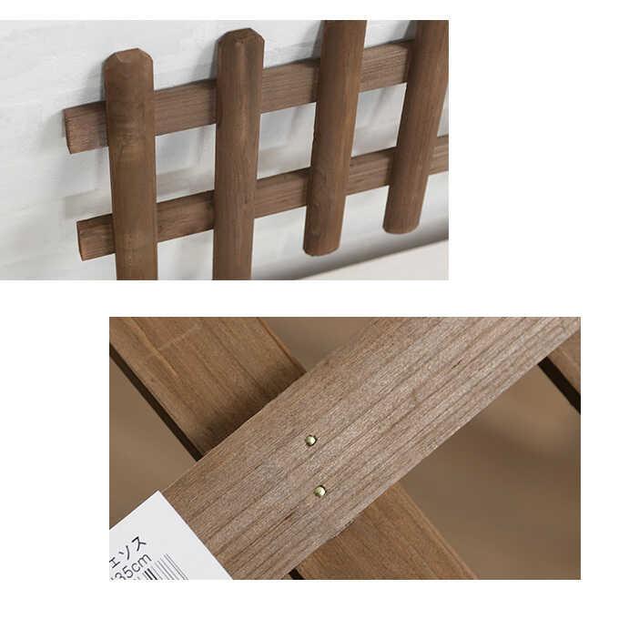 ガーデニング フェンス 木製 ミニ 花壇フェンス 幅60×高さ35cm 花壇 ガーデンフェンス 仕切り 屋外柵 小さい/ウッド/小型 アンティーク/フラワーフェンス/庭/小型/