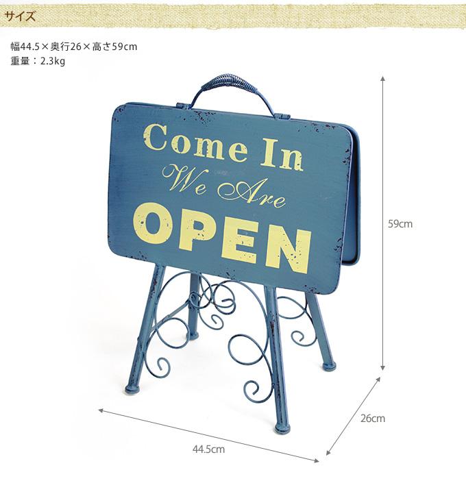 レトロ 小さいオープンスタンド   オープン看板店舗用 スタンド/アンティーク/開店 閉店/カフェ 雑貨/サインボード/アイアン/ボード/小型/