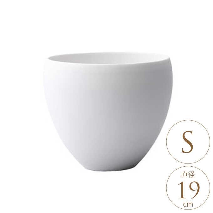 プランター 白 陶器 気持ち新たに エレノア S プランターポット底穴なし/ホワイト/おしゃれ/白い 白色/