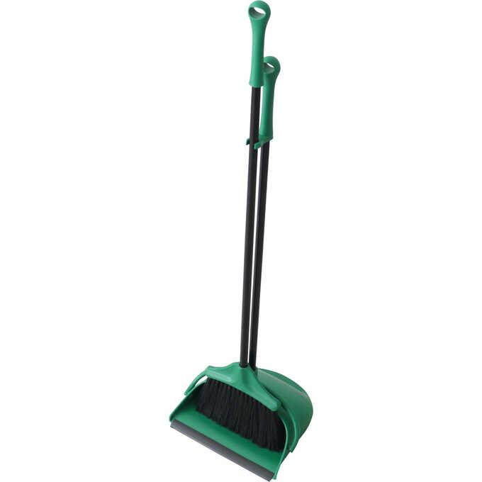 ほうき ちりとり セット おしゃれPORTE グリーン 室内 屋外緑/掃除道具 玄関/ベランダ 掃除/掃除用具/箒/
