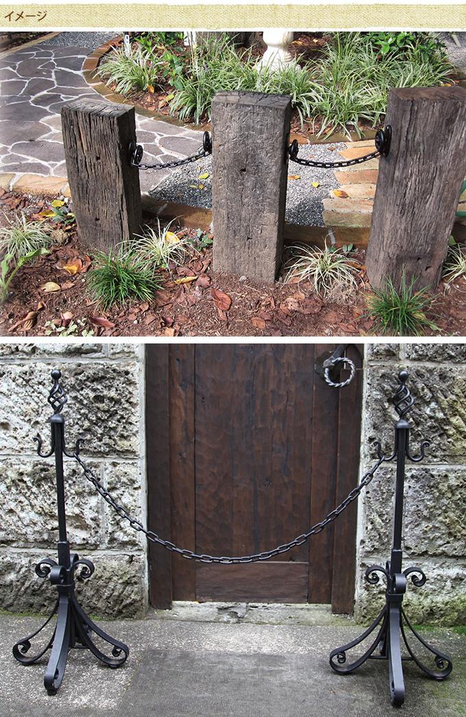鎖40型  庭ガーデニング/ガーデン/かわいい/DIY/チェーン/仕切り/40cm/シック/おしゃれ/