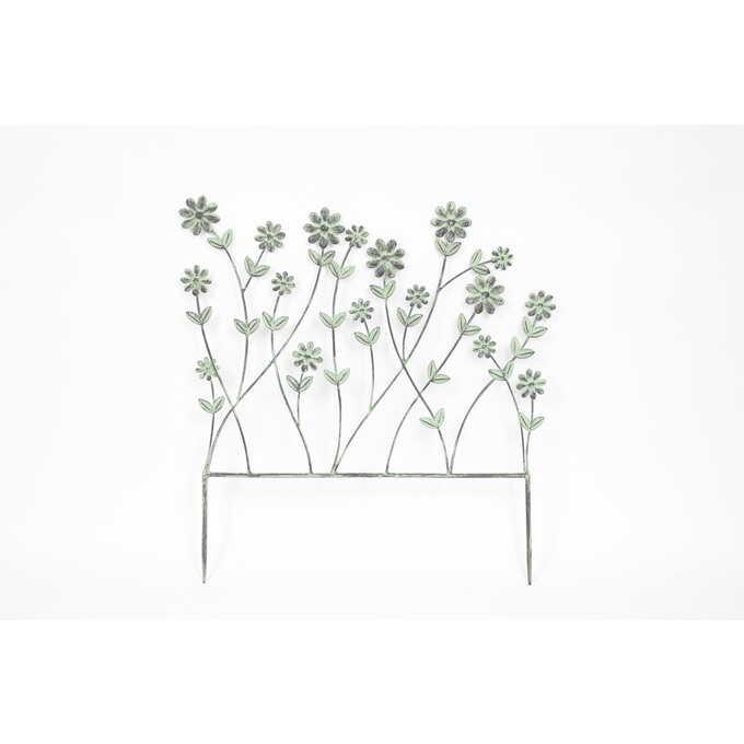 花壇 アイアン フェンス 咲き誇る草花 ミニフェンス小さい 仕切り/ローフェンス/小型/低い/