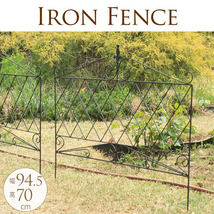 西洋アイアンガーデンフェンス 4枚セット ガーデニング フェンス花壇 仕切り/花壇 柵/簡単 設置/シンプル/かわいい/洋風/
