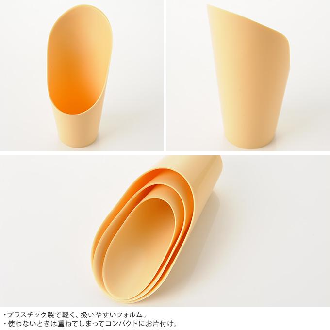 簡単土入れ プラスチック 3セット(大中小) 土の入れ替え移植 移し替え/移動/片手 小型/土いじり/