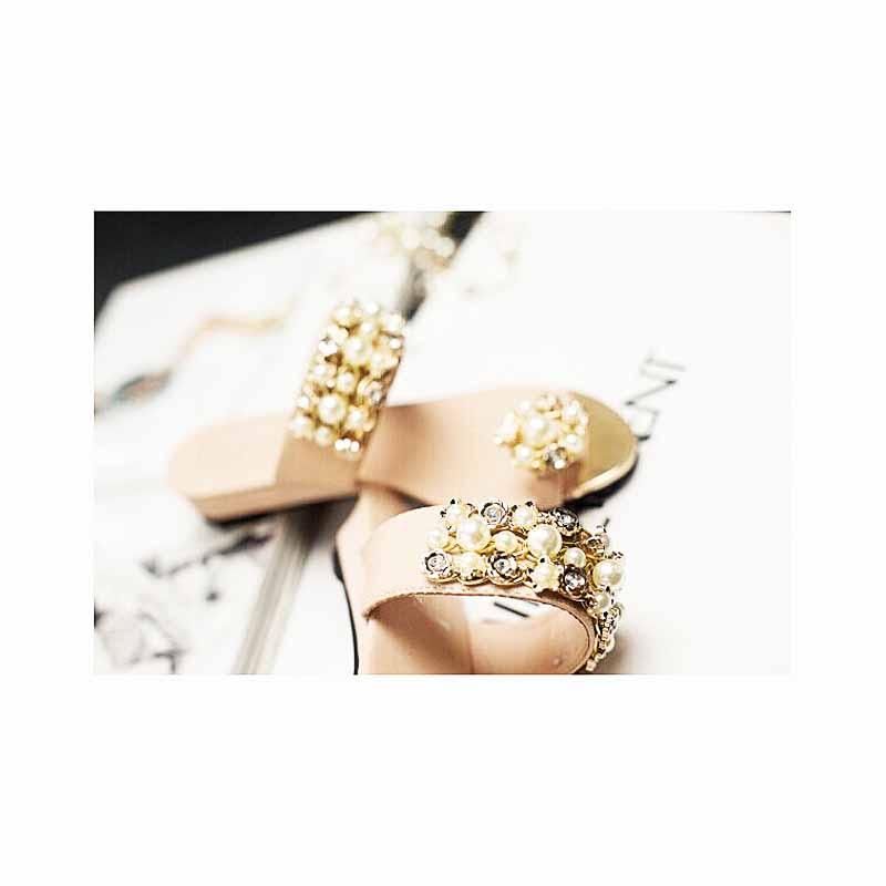 Pearl decoretion Sandal(パールデコレーション サンダル)
