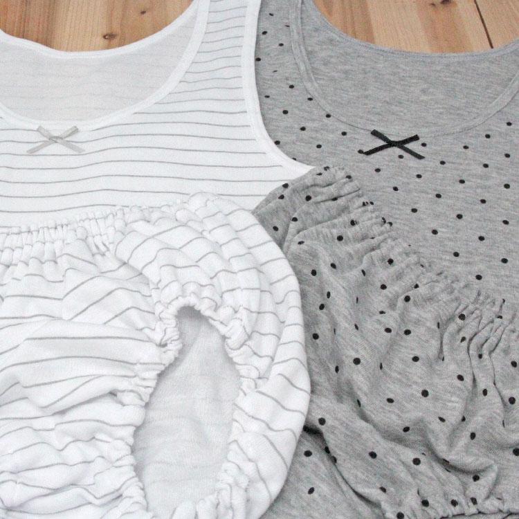 【女の子】キッズジュニア ペアインナー/胸二重タンクトップ 2枚組 130〜165cm【綿100%】